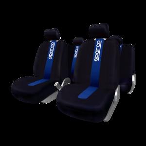 SPARCO Prevleke sedežev STRIPE modre