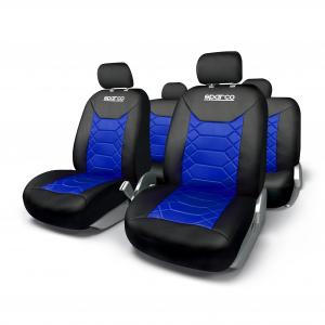 SPARCO Prevleke sedežev LUXURY modre