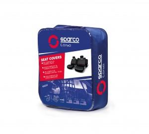 SPARCO Prevleke sedežev PROTECT rdeče